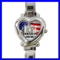 Heart Charm Watch ABRAHAM LINCOLN Statue President US (12174367)