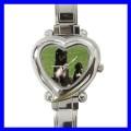 Heart Charm Watch AFGHAN HOUND Dog Puppy Animal Pet Kid (12174368)