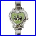 Heart Charm Watch  MINIATURE SCHNAUZER Puppy Animal Dog (12174588)