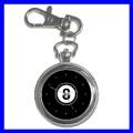 Key Chain Pocket Watch 8 BALL Pool Eight Game Billiard (12155208)