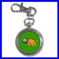 Key Chain Pocket Watch 8 BALL Pool Game Billiards Women (12155210)