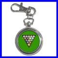 Key Chain Pocket Watch 8 BALL Game Billards Women Pool (12155211)