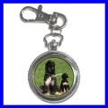 Key Chain Pocket Watch AFGHAN HOUND Dog Puppy Animal NR (12155668)