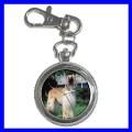 Key Chain Pocket Watch AFGHAN HOUND NR Dog Puppy Animal (12155669)