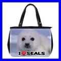 Oversize Office Handbag BABY SEAL Sea Animal Purse Bag (27154202)