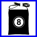 Shoulder Sling Bag Messenger 8 BALL Pool Eight Billiard (25612978)