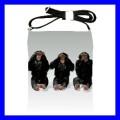 Shoulder Sling Bag Messenger 3 MONKEYS See Hear Speak (25613062)