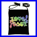 Shoulder Sling Bag Messenger AMBIGRAM LOVE & PEACE Art (25613855)