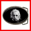 Chrome Metal Belt Buckle ALBERT EINSTEIN Photo Scientis (21603974)