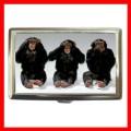 Cigarette Card Money Case Box 3 MONKEYS See Hear Speak (15373475)