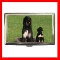 Cigarette Card Money Case Box AFGHAN HOUND Dog Puppy NR (17699468)