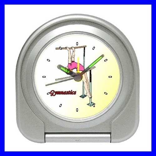 Desk Clock GYMNASTICS Alarm Girls Cheerleader Bedroom (11828564)