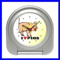 Desk Clock PIG Alarm Pet Farm Piglet Babe Piggy Bedroom (11828567)