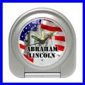 Desk Clock ABRAHAM LINCOLN Alarm President U.S. Statue (11828854)