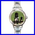 Round Charm Watch AFGHAN HOUND Dog Puppy Animal Pet Kid (11811698)