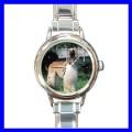 Round Charm Watch AFGHAN HOUND Kid Dog Puppy Animal Pet (11811699)