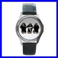 Round Metal Watch 3 MONKEYS See Hear Speak Animal Girls (11542268)