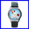 Round Metal Watch ROOSTER Girls Boy Chicken Animal Farm (11571883)