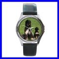 Round Metal Watch AFGHAN HOUND Dog Puppy Animal Pet Boy (11776347)