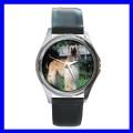 Round Metal Watch AFGHAN HOUND Boy Dog Puppy Animal Pet (11776348)