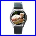 Round Metal Watch FLAMINGO BIRD Wild Animal Zoo Jungle (11776483)