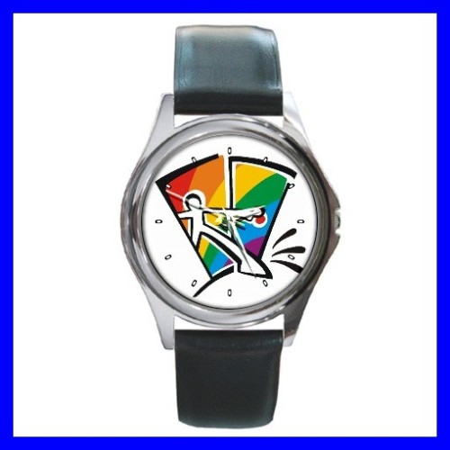 Round Metal Watch GAY COMING OUT Rainbow Pride Flag Men (11776487)