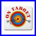 Mousepad Mouse Mat Pad ARCHERY Target Olympic Sports Games Gift (11935272)