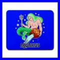 Mousepad Mouse Mat Pad AQUARIUS Zodiac Sign Astrology Space Gift (14780637)