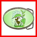 Chrome Metal Belt Buckle ANT Leaves Raining Insect Bug Amazon (21857996)