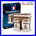 3D Puzzle ARC DE TRIOMPHE PARIS Architecture Building (TP045)