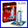 3D Puzzle BURJ AL ARAB Dubai Architecture Building Gift (TP065)