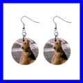 Button Dangle Earrings AIREDALE TERRIER Dog Puppy Pet Animal (12141301)