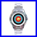 Stainless Steel Watch ARCHERY Target Olympic Game Bow Arrow (31148206)