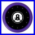 Color Wall Clock 8 BALL Pool Eight Game Billiard Snooker Table (27200003)