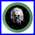 Color Wall Clock ALBERT EINSTEIN Photo Science Memorable Gift (27200304)
