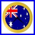 Color Wall Clock AUSTRALIA Flag Australian Gift National Souvenir (27200827)