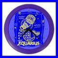 Color Wall Clock AQUARIUS Zodiac Sign Astrology Space Decor Gift (27200997)