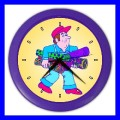 Color Wall Clock ARCHITECT Blueprint Construction Worker Foreman (27201113)