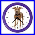 Color Wall Clock AMERICAN PIT BULL TERRIER Dog Puppy Pet Vet Tech (27201154)