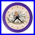 Color Wall Clock ARCHITECT Blueprint Construction Worker Foreman (27201187)