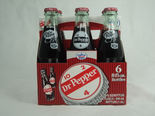 dr pepper glass bottle
