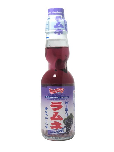 FRESH 4 Pk 6.7oz Ramune Grape soda - Soda Emporium | Buy ...