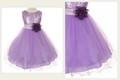 girls lavender sequins & mesh dress