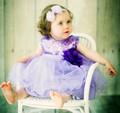 lavender tulle baby dress