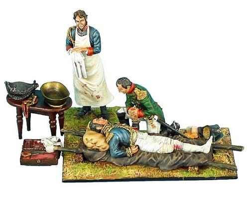 First Legion NAP0389: Napoleon, Marshal Lannes, Surgeon Larrey, and Accessories