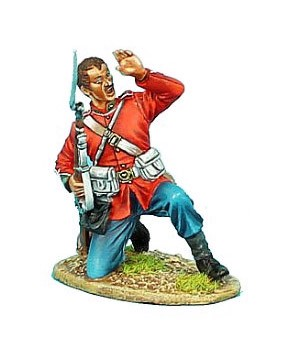 First Legion ZUL010: British 24th Foot Kneeling Under Attack