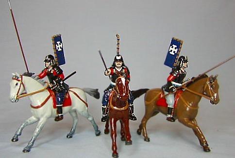 Monarch Regalia 279: Konishi Clan - 3 Mounted Ashigaru Cavalry Charging