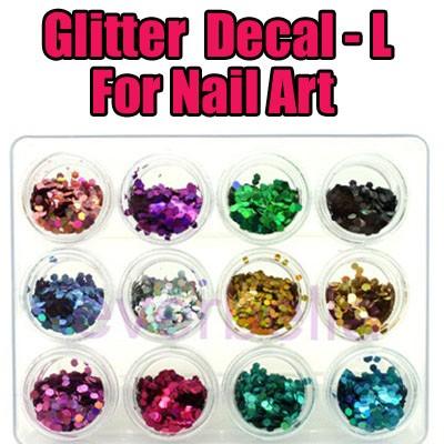 54003-L-THUMB Glitter nail art design decal.jpg 6/10/2010