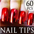Thumb_54205-1-THUMB 60pcs metallic false nail full tips.jpg 12/11/2011