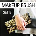 12 PCS Cosmetic Makeup brushes set Artificial Hair w/ Pattern pouch 047 Style B